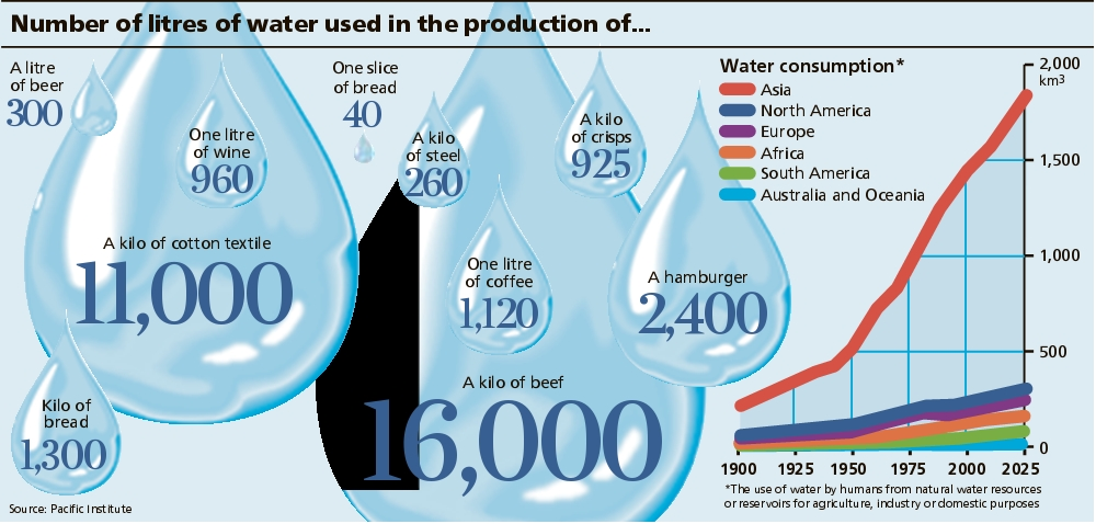 Number of Liters of Water Used