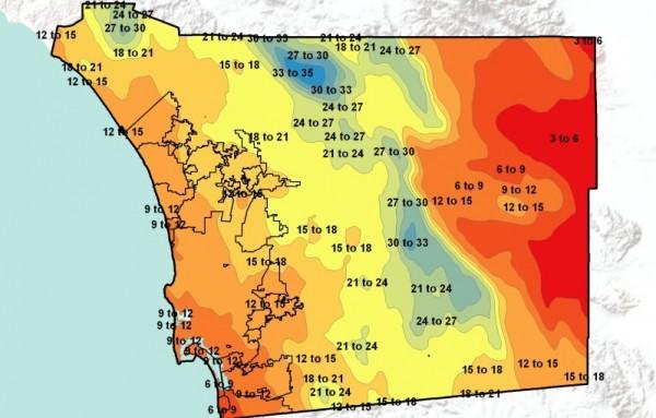 2004 Rainfall Map