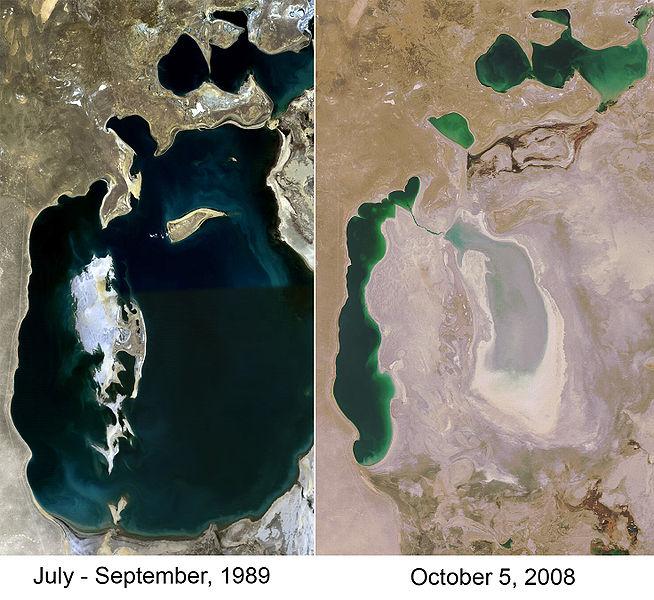 Aral Sea Comparison, 1989-2008