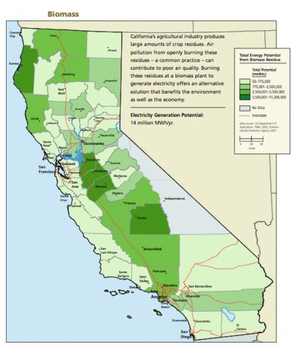 California Biomass Map