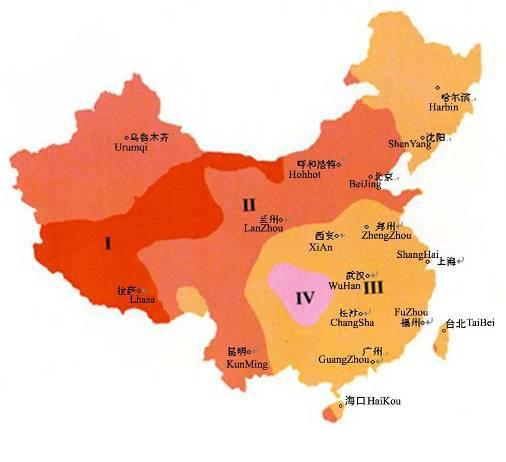 Chinese Solar Regions