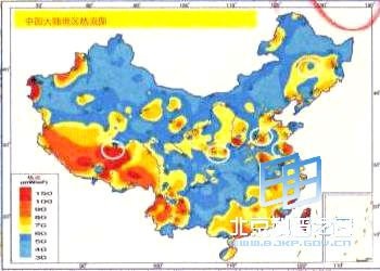 Geothermal Energy Distribution in China