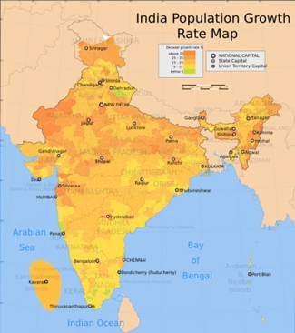India Population Map, 2006