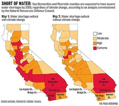 CA Short of Water