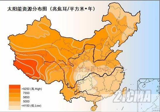 Solar Energy Capacity throughout China
