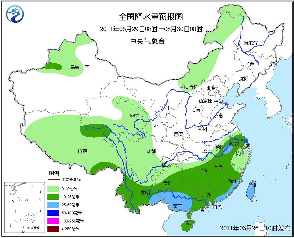 rainfall levels in china