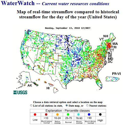 US Current Water Resources Conditions