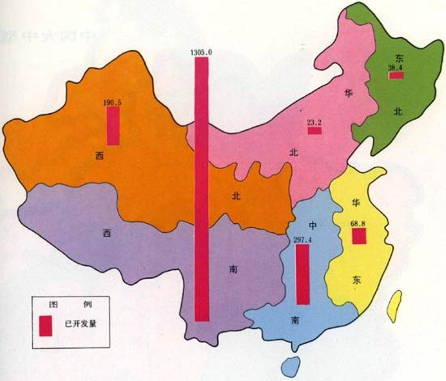 water stress in china-percentage of dry land