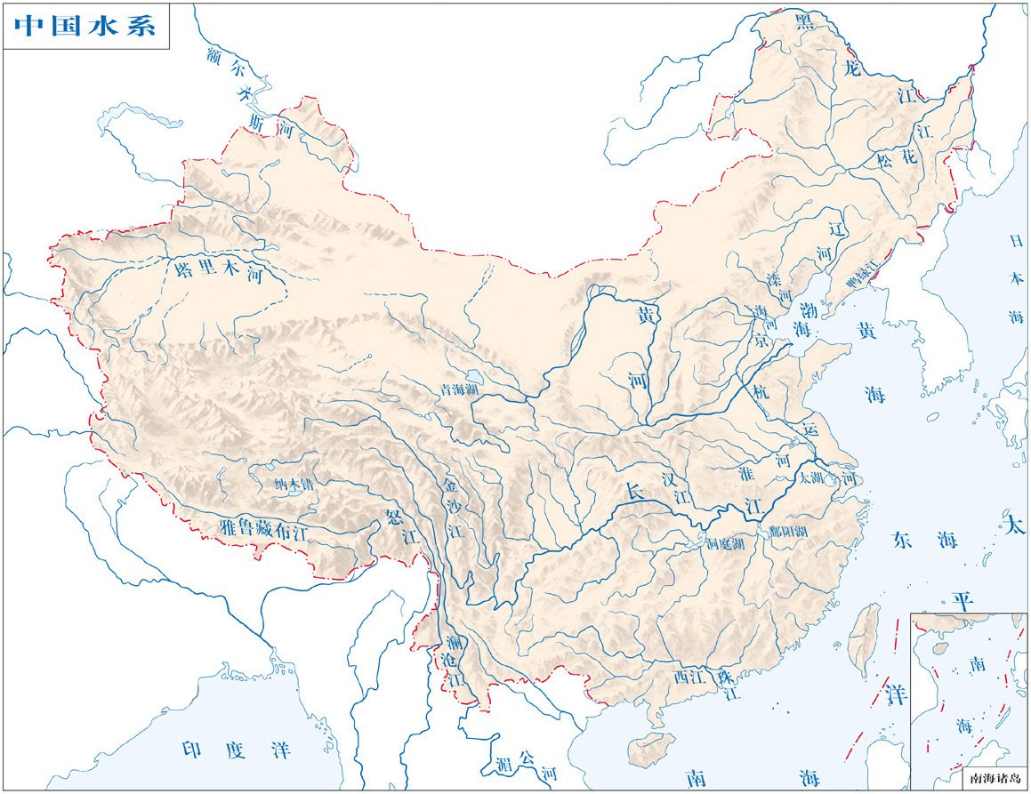 Location of the Water Bodies in China