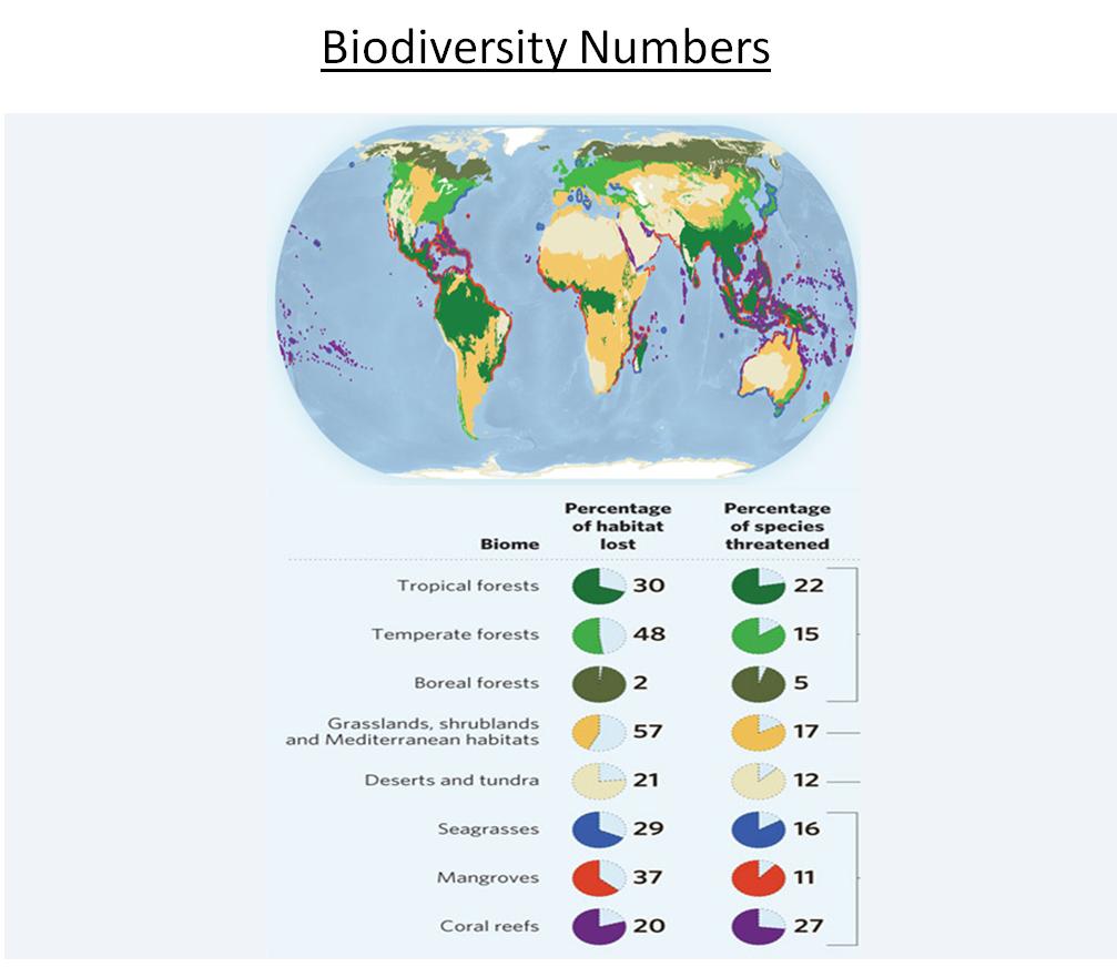 Biodiversity numbers