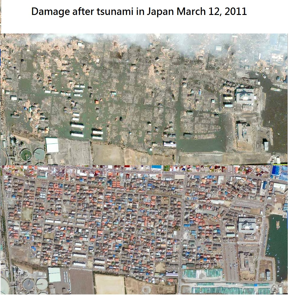 Damage after tsunami in Japan, March 12/2011