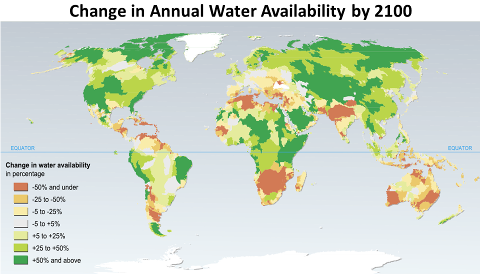 Change in Water Annual Availability by 2100