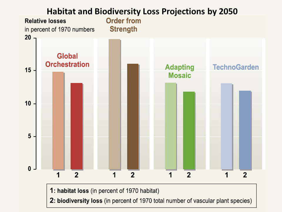 Habitat and Biodiversity Loss Projections by 2050