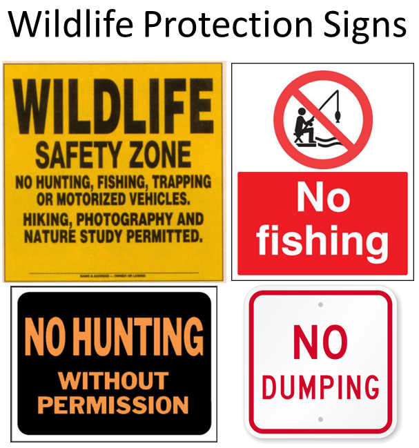 Wildlife protection signs