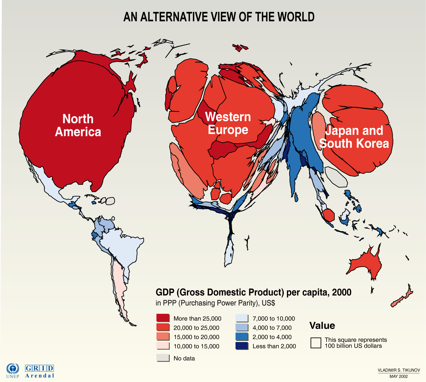 GDP per person World map