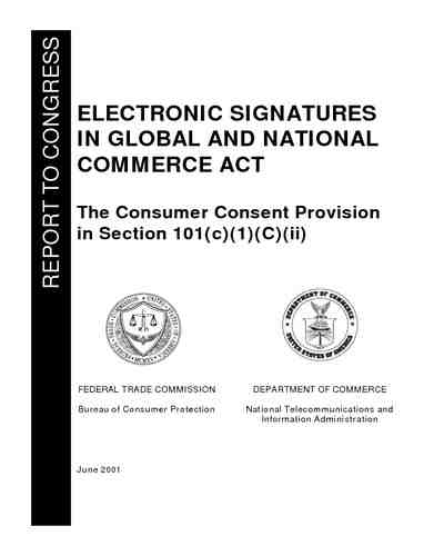 Electronic Signatures in Global and National Commerce Act