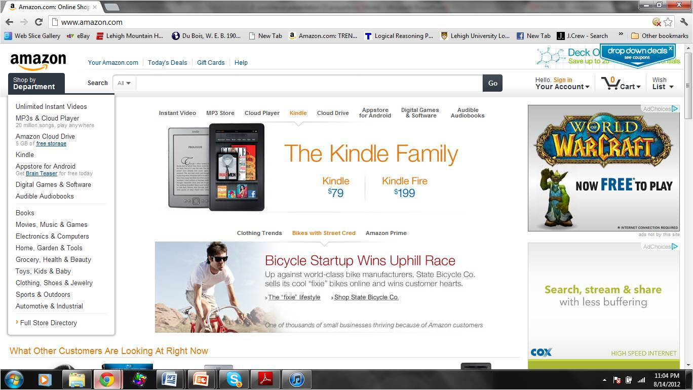 Amazon Homepage from 2011
