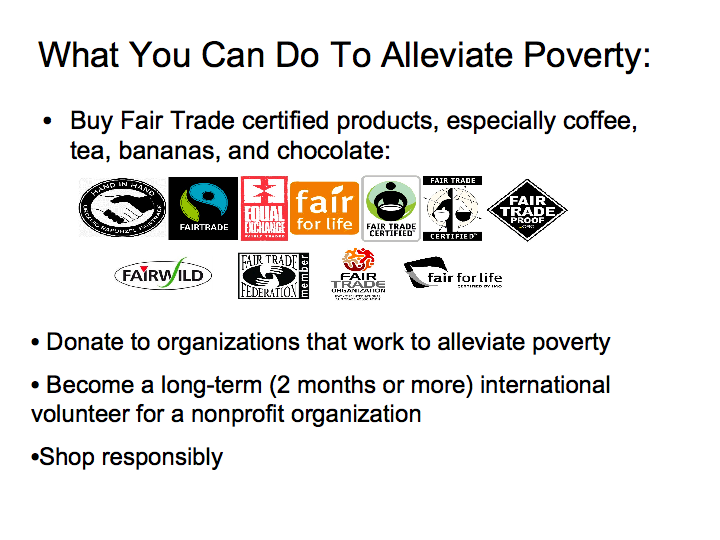 What You Can Do to Alleviate Poverty