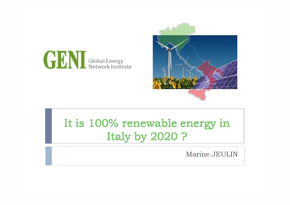 It is 100% renewable energy in Italy by 2020 ?