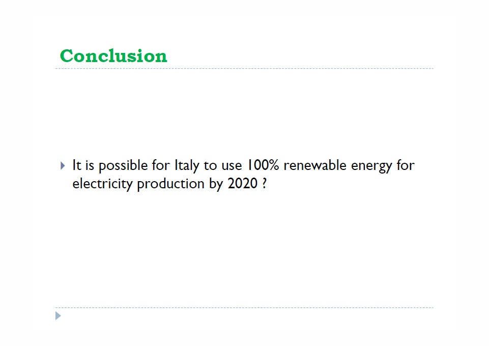 Conclusion Italy