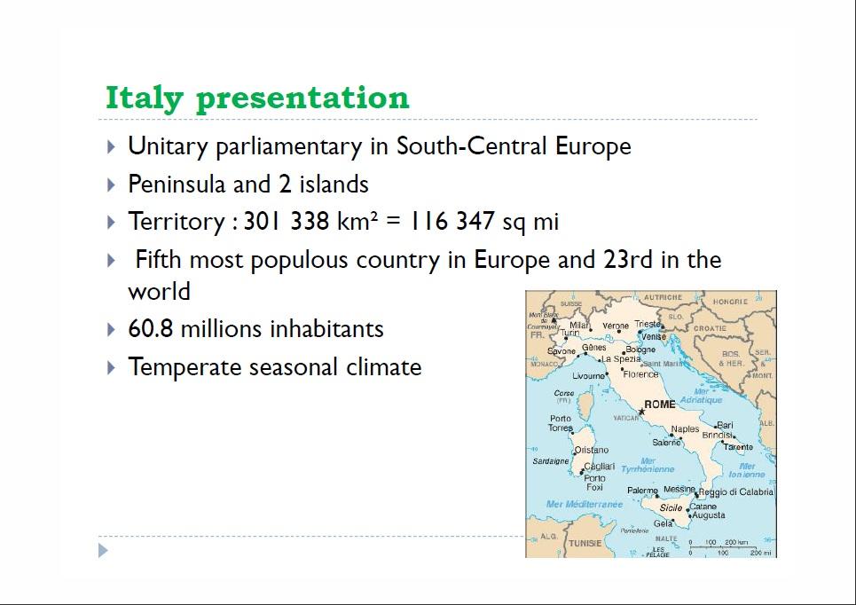Italy presentation