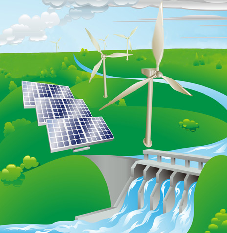 Wind, Water, and Solar Power for the World