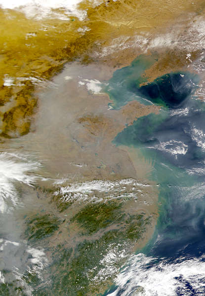 Pollution in China: Man-made and visible from space