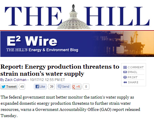 Energy production threatens to strain nation's water supply